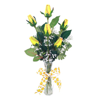 Softball Rose Flower Arrangements - Softball gifts for home or office