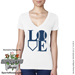 Softball LOVE V-Neck T-Shirt Mini-Thumbnail