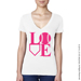 Baseball LOVE V-Neck T-Shirt Mini-Thumbnail