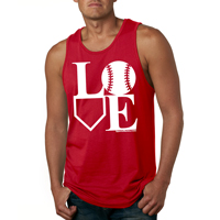 Baseball LOVE Mens Tank Top Shirt