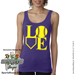 Softball LOVE Ladies Jersey Tank Shirt Mini-Thumbnail