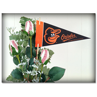 Baseball Gifts|Baltimore Orioles Flower Arrangements and Gifts