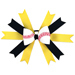 Baseball Hair Bow - Yellow Black Mini-Thumbnail