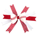 Baseball Hair Bow - Red White Chevrons Mini-Thumbnail
