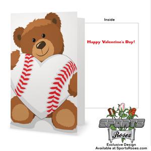 Valentine's Day Baseball Heart Greeting Card