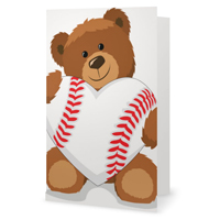 Valentine's Day Baseball Heart Greeting Card