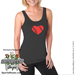 Baseball Heart Ladies Jersey Tank Shirt Mini-Thumbnail