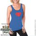 Softball Heart Ladies Jersey Tank Shirt Mini-Thumbnail