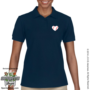 Baseball Heart Women's Polo Shirt