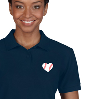 Baseball Heart Polo Shirt - Women's