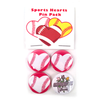 Baseball Hearts Pin Pack