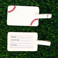 Baseball Leather Themed Luggage Tag