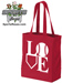 Baseball Softball LOVE Canvas Tote Bag Mini-Thumbnail