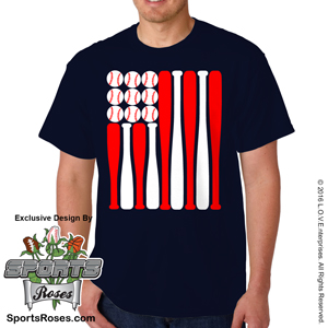 Baseball USA Flag Shirt