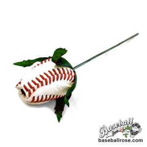 Baseball Rose Corsage Stem - Customize your own boutonnieres and corsages