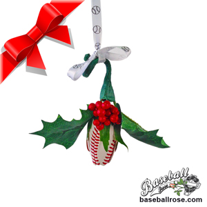 Baseball Rose Holiday Mistletoe