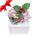 Baseball Rose™ Mistletoe Ornament with Gift Box Mini-Thumbnail