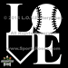 Softball LOVE Decal Mini-Thumbnail