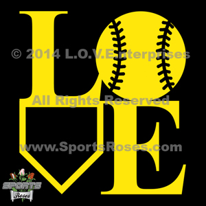 Softball LOVE Decal
