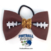 Basic Football Hair Bow - Gold Sparkle Mini-Thumbnail