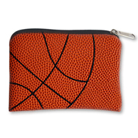 Basketball Leather Key Chain