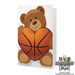 Basketball Rose & Sports Bear Gift Set Mini-Thumbnail