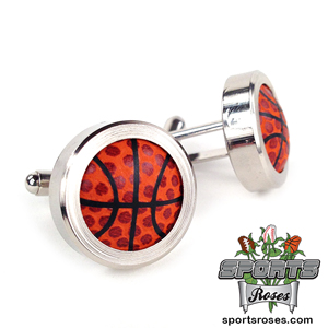 Basketball Themed Cufflinks