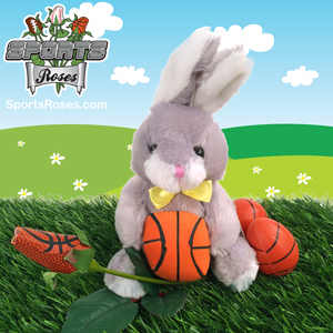 Basketball rose bunny gift set