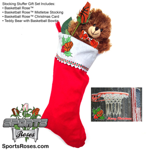 Basketball Rose Stocking Stuffer Gift Set