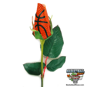 Basketball Rose Long Stem - Basketball Themed Gifts and Flower Arrangements