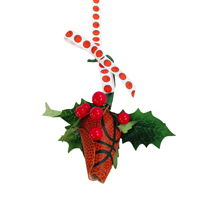 Basketball Rose™ Mistletoe Ornament with Gift Box