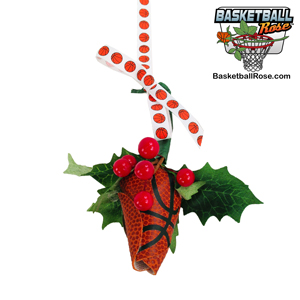 Basketball Rose Mistletoe Ornament