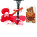 Basketball Rose Valentine's Day Vase Arrangement Mini-Thumbnail