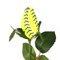 Premium Softball Rose (Blue Stitch)