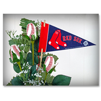 Baseball Gifts|Boston Red Sox Flower Arrangements and Gifts