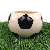 Ceramic Soccer Vase Planter