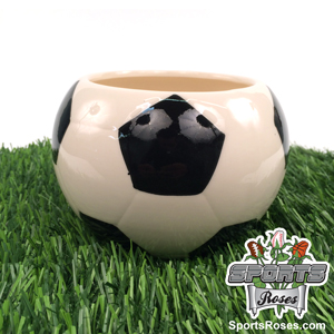 Ceramic Soccer Planter Vase
