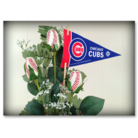 Baseball Gifts|Chicago Cubs Flower Arrangements and Gifts