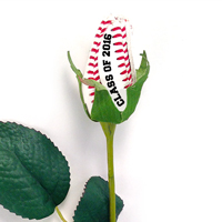 Baseball Rose Long Stem - Baseball Themed Gifts