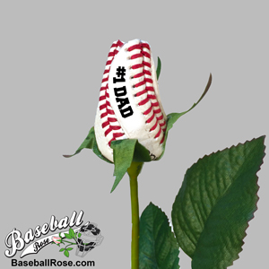 Father's Day Baseball Rose - Baseball Themed Gifts