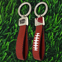 Football Leather Key Chain