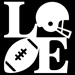Football LOVE Decal Mini-Thumbnail