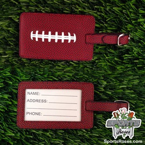 Football Leather Themed Luggage Tag