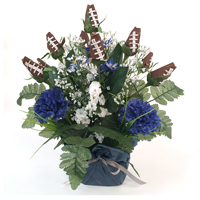 Football Rose Centerpiece Arrangment (Dark Blue and White)