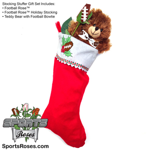 Football Rose Stocking Stuffer Gift Set