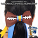 Basic Football Hair Bow - Blue Sparkle Mini-Thumbnail