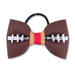 Basic Football Hair Bow - Red and Old Gold Mini-Thumbnail