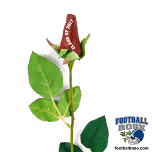 Class of 2018 Football Rose Long Stem - Football themed gifts