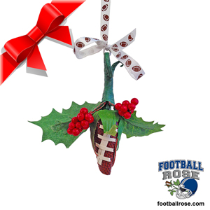 Football Rose Holiday Mistletoe