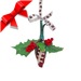Football Rose™ Mistletoe Ornament with Gift Box Mini-Thumbnail